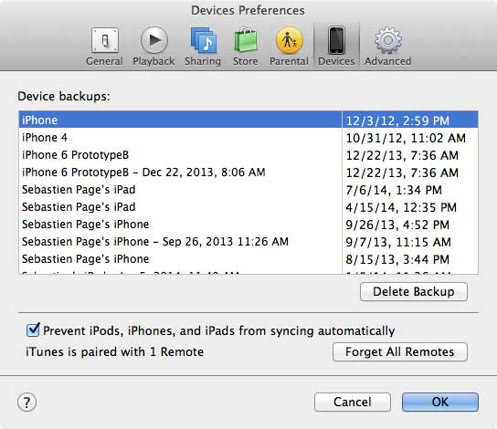 Delete iPhone Backup Files