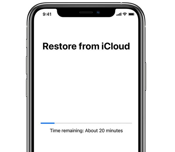 Restore iPhone from an iCloud backup