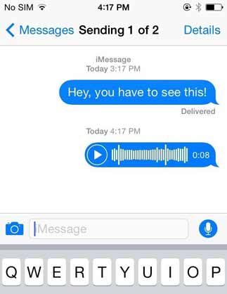 Sending iPhone Messages