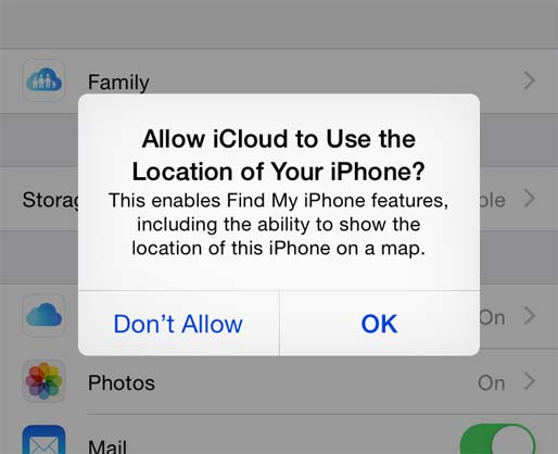 Location of Your iPhone