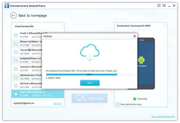 Transfer Contacts from iCloud to Android